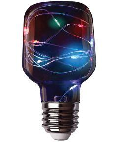 Feit LED Fairy Light RGB Mini Cylinder Bulb, E26 Standard Medium Base