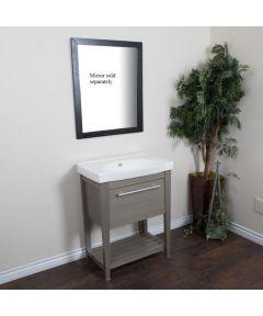 27.5 in. W x 18 in. D Single Sink Bathroom Vanity, Gray