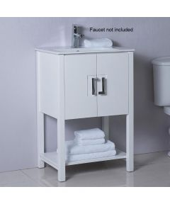 24 in. W x 18 in. D Single Sink Bathroom Vanity, White
