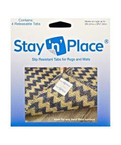 Stay N Place 3 in. x 3 in. Rug Slip Resistant Tabs, 4 Pack