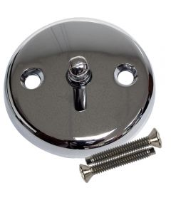 Overflow Plate with Trip Lever