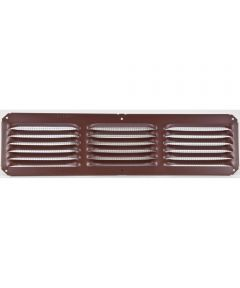 Lomanco 16 in. x 4 in. Undereave Vent, Brown