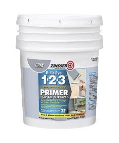 5 Gallon Zinsser Bulls Eye 1-2-3 Water-Base Gray Primer