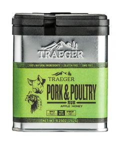 Pork & Poultry Rub Apple & Honey Seasoning, Gluten & GMO Free, 9.25 oz.