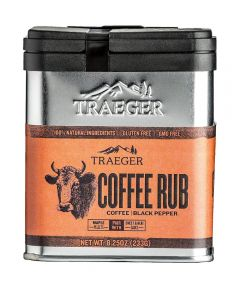Coffee Rub Coffee & Black Pepper Seasoning, Gluten & GMO Free, 8.25 oz.