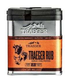 Traeger House Rub Garlic & Chili Pepper Seasoning, Gluten & GMO Free, 9 oz.