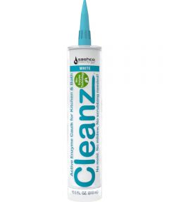 Cleanz White Kitchen & Bath Caulk with Active Enzymes, 10.5 oz.