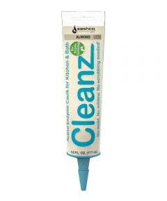 Cleanz Almond Kitchen & Bath Caulk with Active Enzymes, 6 oz.
