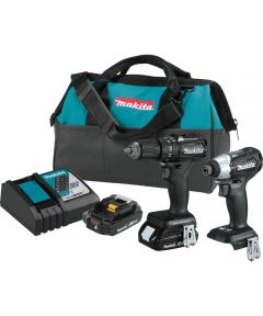 Makita 18V LXT Sub‑Compact Brushless Cordless Hammer Drill-Driver & Impact Driver Kit with Charger & 2 (2.0Ah) Batteries