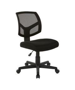 WorkSmart Armless Screen Back Office Task Chair