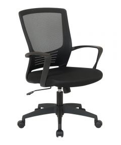 WorkSmart Screen Back Office Task Chair with Stationary Loop Style Arms