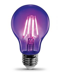 Feit Electric 7 Watt E26 A19 LED Black Light Non-Dimmable Light Bulb
