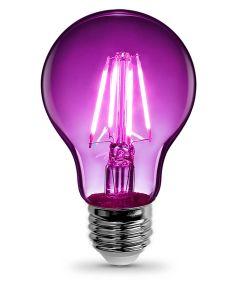 Feit Electric 4.5 Watt E26 A19 Purple LED Dimmable Light Bulb