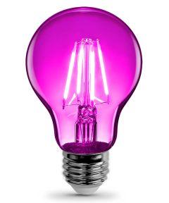 Feit Electric 4.5 Watt E26 A19 Pink LED Dimmable Light Bulb