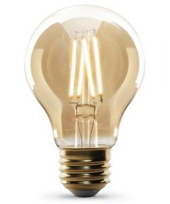 Feit Electric 4 Watt E26 AT19 2100K Soft White Amber Glass LED Dimmable Vintage Light Bulb