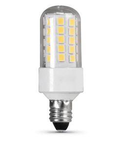 Feit Electric 4.5 Watt E11 T4 3000K Warm White LED Dimmable Specialty Light Bulb