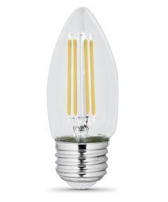 Feit Electric 3.3 Watt E26 B10 5000K Daylight LED Dimmable Light Bulbs, 2 Pack