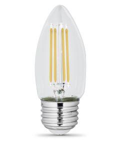 Feit Electric 5.5 Watt E26 B10 5000K Daylight LED Dimmable Light Bulbs, 2 Pack