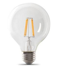 Feit Electric 2.5 Watt E26 G25 Clear 2700K Soft White LED Dimmable Light Bulb