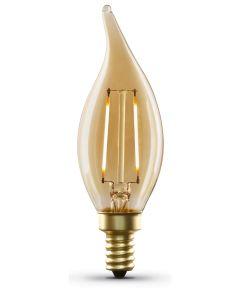 Feit Electric 3.5 Watt E12 CA10 Amber Glass Soft White LED Dimmable Vintage Light Bulb