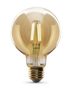 Feit Electric 5 Watt E26 G35 Amber Glass Daylight LED Dimmable Light Bulb