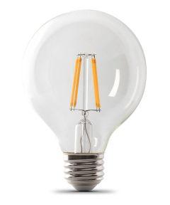 Feit Electric 3.8 Watt E26 G25 2700K Soft White LED Dimmable Light Bulb, 3 Pack