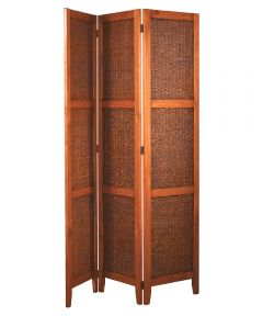 Folding Screen Banana Leaf, Cherry Finish