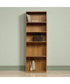 5-Shelf Bookcase, Highland Oak Finish