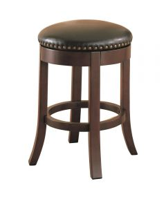 24 in. Bar Stool Swivel Upholstered Seat