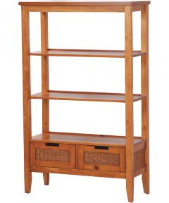 Balboa Bookshelf with 3 Shelves & 2 Drawers