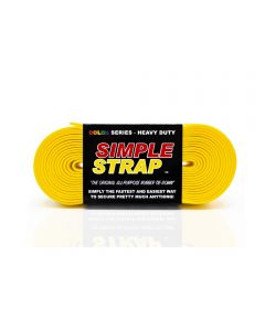 Simple Strap 3 mm x 20 ft / 1,000 PSI Heavy Duty Rubber Tie-Down, Yellow