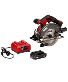 SKIL 20V Cordless 6-1/2 in. Circular Saw Kit with PWRCore 20 Battery (2.0Ah) & Charger