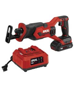 SKIL 20V Cordless Reciprocating Saw Kit with PWRCore 20 Battery (2.0Ah) & Charger