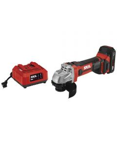 SKIL 20V Cordless 4-1/2 in. Angle Grinder Kit with PWRCore 20 Battery (2.0Ah) & Charger