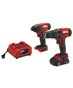 SKIL 20V Cordless 1/2 in. Drill Driver & 1/4 in. Hex Impact Driver Kit with PWRCore 20 Battery (2.0Ah) & Charger