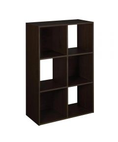 Stackable 6 Cube Organizer Shelf, Espresso
