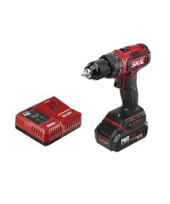 SKIL 20V Brushless Cordless 1/2 in. Drill Driver Kit with PWRCore 20 2.0Ah  Battery (with Built-In PWRAssist USB Mobile Charging Port) & PWRJump Charger