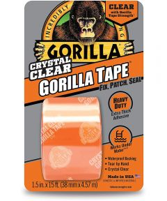 Gorilla Crystal Clear Tape, 1.5 in. x 5 yd.