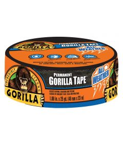 Gorilla Permanent All Weather Tape, 1.88 in. x 25 yd.