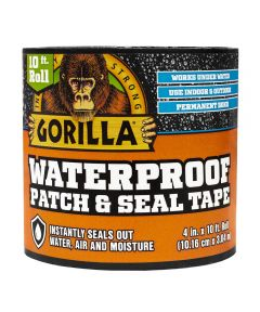 Gorilla Black Waterproof Patch & Seal Tape, 4 in. x 10 ft.