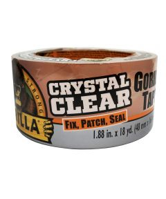 Gorilla Crystal Clear Tape, 1.88 in. x 18 yd.