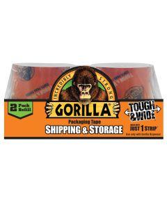 Gorilla Heavy Duty Packaging Tape Tough & Wide, 2 Pack Refill, 2.83 in. x 30 yd.