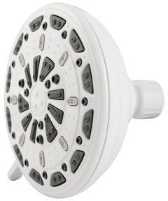 Waxman 5 in. White Serene 3-Spray Fixed Shower Head