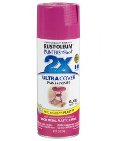 Painter's Touch 2X Ultra Cover Gloss Spray , 12 oz Spray Paint, Gloss Berry Pink