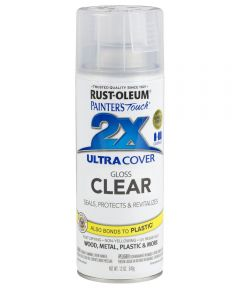 Painter's Touch 2X Ultra Cover Clear Spray, 12 oz Spray Paint, Gloss Clear