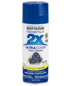 Painter's Touch 2X Ultra Cover Gloss Spray , 12 oz Spray Paint, Gloss Deep Blue