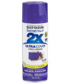Painter's Touch 2X Ultra Cover Gloss Spray , 12 oz Spray Paint, Gloss Grape
