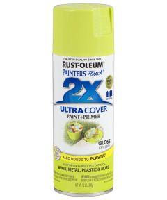 Painter's Touch 2X Ultra Cover Gloss Spray , 12 oz Spray Paint, Gloss Key Lime