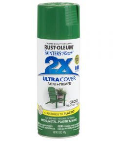 Painter's Touch 2X Ultra Cover Gloss Spray , 12 oz Spray Paint, Gloss Meadow Green