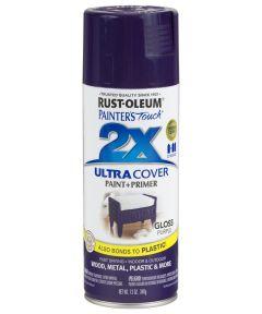 Painter's Touch 2X Ultra Cover Gloss Spray , 12 oz Spray Paint, Gloss Purple